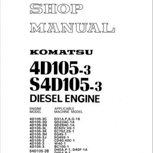Komatsu 4D105-3, S4D105-3 Diesel Engine Service Manual