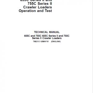 John Deere 655C, 755C, 655C Series II, 755C Series II Crawler Loader Service Manual