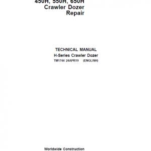 John Deere 450H, 550H, 650H Crawler Dozer Service Manual (TM1743 & TM1744)