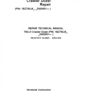 John Deere 750J-II Crawler Dozer Service Manual (SN. from D000001 - D306890)