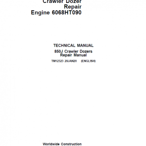 John Deere 850J with Engine 6068HT090 Crawler Dozer Service Manual