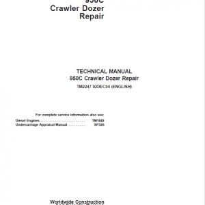 John Deere 950C Crawler Dozer Service Manual (TM2247 & TM1849)