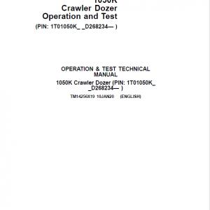 John Deere 1050K Crawler Dozer Service Manual (SN. from D268234)