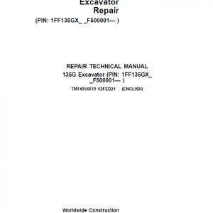 John Deere 135G Excavator Service Manual (SN. F500001-)