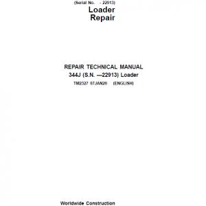 John Deere 344J Loader Service Manual (SN. before 22913)