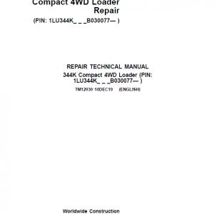 John Deere 344K Loader Service Manual (SN. after B030077)