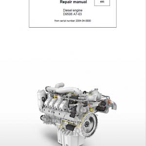 Liebherr D9508 A7-03 Engine Service Manual