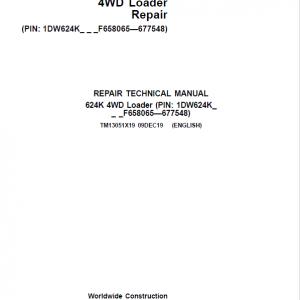 John Deere 624K 4WD Loader Service Manual (SN. from F658065-F677548)