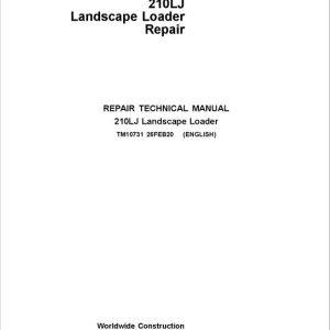 John Deere 210LJ Landscape Loader Repair Service Manual