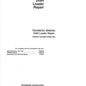 John Deere 244H Loader Repair Service Manual