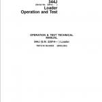 John Deere 344J Loader Service Manual (SN. after 22914)