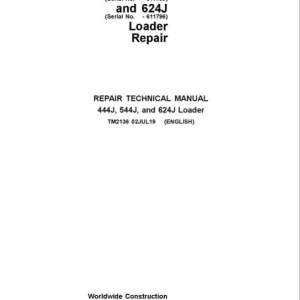 John Deere 444J, 544J, 624J Loader Service Manual (SN. before 611274)