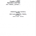 John Deere 605K Crawler Loader Service Manual (SN. from E237629)