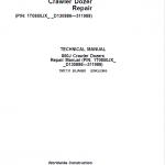 John Deere 850J Crawler Dozer Service Manual (SN. from D130886 – D311988)