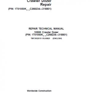 John Deere 1050K Crawler Dozer Service Manual (SN. from C268234 - C318801)
