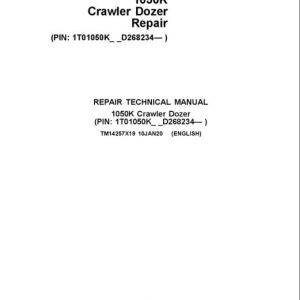 John Deere 1050K Crawler Dozer Service Manual (SN. from D268234)
