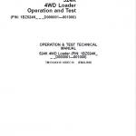 John Deere 524K 4WD Loader Service Manual (SN. D000001 – D001000)