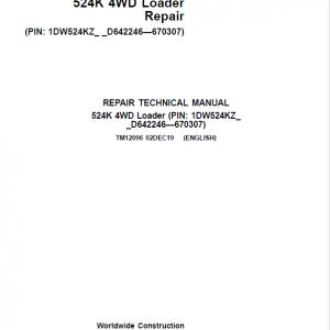 John Deere 524K 4WD Loader Service Manual (SN. D642246 - D670307)