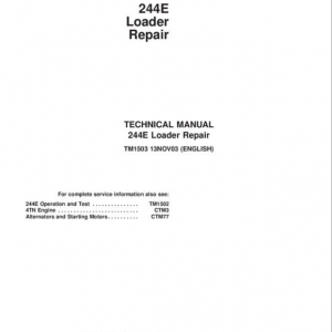 John Deere 244E Loader Repair Service Manual
