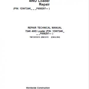 John Deere 724K 4WD Loader Service Manual (S.N. after F658297 - )
