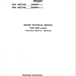 John Deere 724K 4WD Service Manual (S.N from C000001 & D000001 - )