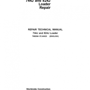 John Deere 744J, 824J 4WD Loader Service Manual