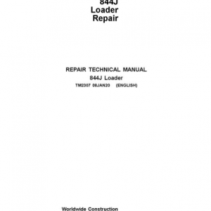 John Deere 844J Loader Repair Service Manual