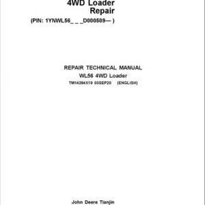 John Deere WL56 4WD Loader Service Manual (S.N after D000509 - )