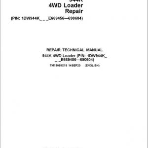 John Deere 944K 4WD Loader Service Manual (S.N E669456 - E690604)