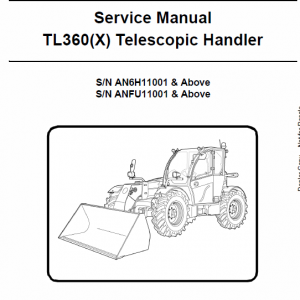 Bobcat TL360 and TL360X Telescopic Handler Service Manual