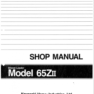 Kawasaki 65ZII Wheel Loader Service Manual