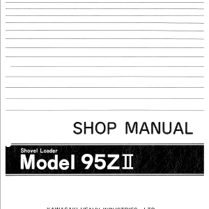 Kawasaki 95ZII Wheel Loader Service Manual
