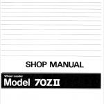 Kawasaki KSS70, 70ZII Wheel Loader Service Manual