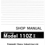 1Kawasaki KSS110Z,110ZII Wheel Loader Service Manual
