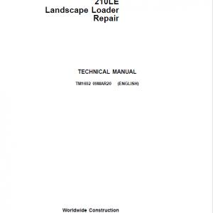 John Deere 210LE Landscape Loader Service Manual