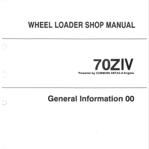 Kawasaki 70ZIV Wheel Loader Service Manual