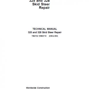 John Deere 325, 328 SkidSteer Loader Service Manual