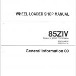 Kawasaki 85ZIV Wheel Loader Service Manual