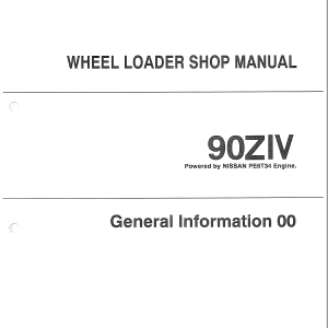 Kawasaki 90ZIV Wheel Loader Service Manual