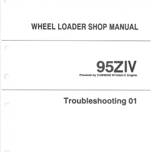 Kawasaki 95ZIV Wheel Loader Service Manual