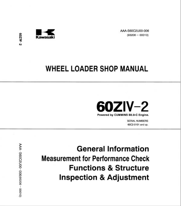 Kawasaki 60ZIV-2 Wheel Loader Repair Service Manual