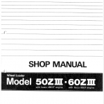 Kawasaki 50ZIII Wheel Loader Service Manual
