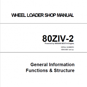 Kawasaki 80ZIV-2 Wheel Loader Repair Service Manual