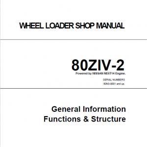 Kawasaki 80ZIV-2 Wheel Loader Repair Service Manual