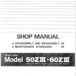Kawasaki 60ZIII Wheel Loader Service Manual