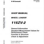 Kawasaki 115ZIV-2 Wheel Loader Repair Service Manual