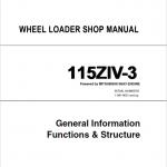Kawasaki 115ZIV-3 Wheel Loader Repair Service Manual