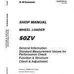 Kawasaki 50ZV Wheel Loader Repair Service Manual