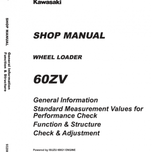 Kawasaki 60ZV Wheel Loader Repair Service Manual