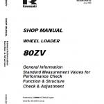 Kawasaki 80ZV Wheel Loader Repair Service Manual